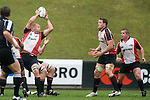 Dave Duley claims the ball from a kickoff. Air New Zealand Cup pre-season rugby game between the Counties Manukau Steelers & Northland, played at Growers Stadium on July 21st, 2007. Counties Manukau won 28 - 17.
