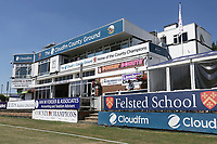 Blue skies over the Doug Insole Pavilion ahead of Essex CCC vs Somerset CCC, Specsavers County Championship Division 1 Cricket at The Cloudfm County Ground on 25th June 2018