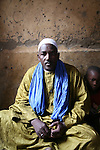 The marabout in the teaching room in his house in Timbuctu, Mali.  The coranic schools in Timbuctu are only open early in the morning and on Saturdays in order to allow pupils to attend the public school.