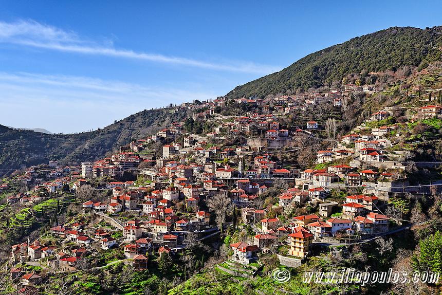 Lagadia is a mountain village in Arcadia, Peloponnese, Greece.