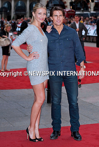 "CAMERON DIAZ and TOM CRUISE.Attend the UK premiere of Knight and Day, London_England_22/07/2010..Mandatory Photo Credit: ©Dias/Newspix International..**ALL FEES PAYABLE TO: ""NEWSPIX INTERNATIONAL""**..PHOTO CREDIT MANDATORY!!: NEWSPIX INTERNATIONAL(Failure to credit will incur a surcharge of 100% of reproduction fees)..IMMEDIATE CONFIRMATION OF USAGE REQUIRED:.Newspix International, 31 Chinnery Hill, Bishop's Stortford, ENGLAND CM23 3PS.Tel:+441279 324672  ; Fax: +441279656877.Mobile:  0777568 1153.e-mail: info@newspixinternational.co.uk"