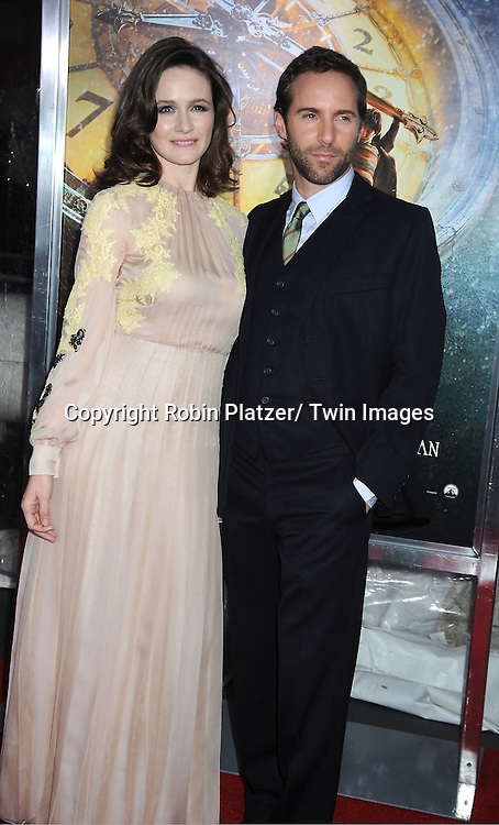 """Emily Mortimer and husband Alessandro Nivola attends The World Premiere of """"Hugo in 3D"""" on November 21, 2011 at The Ziegfeld Theatre in New York City."""
