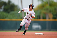 GCL Pirates shortstop Kyle Mottice (24) runs the bases during the second game of a doubleheader against the GCL Yankees East on July 31, 2018 at Pirate City Complex in Bradenton, Florida.  GCL Pirates defeated GCL Yankees East 12-4.  (Mike Janes/Four Seam Images)