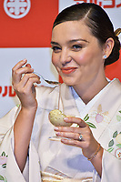 Miranda Kerr at the presentation of Marukome Koji-amazake (rice and malt sake) at Shinagawa Goos Hotel. Tokyo, Japan. January 9, 2019. Credit: Action Press/MediaPunch **FOR USA ONLY***