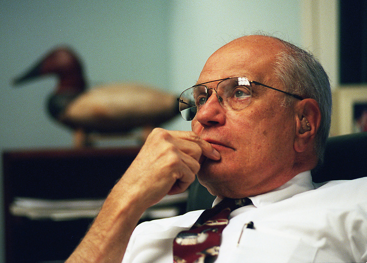 10/28/97.PROFILE:John D. Dingell,D-Mich.,in his office at Rayburn House Office Building..CONGRESSIONAL QUARTERLY PHOTO BY DOUGLAS GRAHAM.