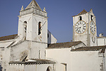 St Mary of the Castle Church with Clock Tower, Tavira, Algarve, Portugal