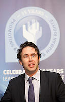 "**** NO FEE PIC***.12/04/2012 .Prof Anthony Pemberton International Victimology Institute Tilburg.during a conference on the ""The EU Directive on Victims Rights: Opportunities and Challenges for Ireland"" hosted by the the Irish Council for Civil Liberties (ICCL) in Dublin Castle..Photo: Gareth Chaney Collins"