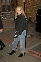 LONDON, ENGLAND - JUNE 12: Sabrina Carpenter spotted at Camila Cabello concert at Brixton Academy on June 12, 2018 in London, England.<br /> CAP/MAR<br /> &copy;MAR/Capital Pictures
