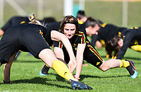 20190226 - LARNACA , CYPRUS :  Belgian Heleen Jaques pictured during a Matchday -1 training from The Belgian Red Flames prior to their game against the women team of Slovakia , on Tuesday 26 February 2019 at the Alpha Sports Grounds in Larnaca , Cyprus . This will be the first game in group C for Belgium during the Cyprus Womens Cup 2019 , a prestigious women soccer tournament as a preparation on the European Championship 2021 qualification duels. PHOTO SPORTPIX.BE | DAVID CATRY