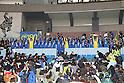 Ichiritsu Funabashi team group (Ichifuna),.JANUARY 9, 2012 - Football / Soccer :.Ichiritsu Funabashi players celebrate with the championship pennant and trophies during the award ceremony after winning the 90th All Japan High School Soccer Tournament final match between Ichiritsu Funabashi 2-1 Yokkaichi Chuo Kogyo at National Stadium in Tokyo, Japan. (Photo by Hiroyuki Sato/AFLO)