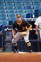 Bradenton Marauders first baseman Jerrick Suiter (25) during a game against the Tampa Yankees on April 11, 2016 at George M. Steinbrenner Field in Tampa, Florida.  Tampa defeated Bradenton 5-2.  (Mike Janes/Four Seam Images)