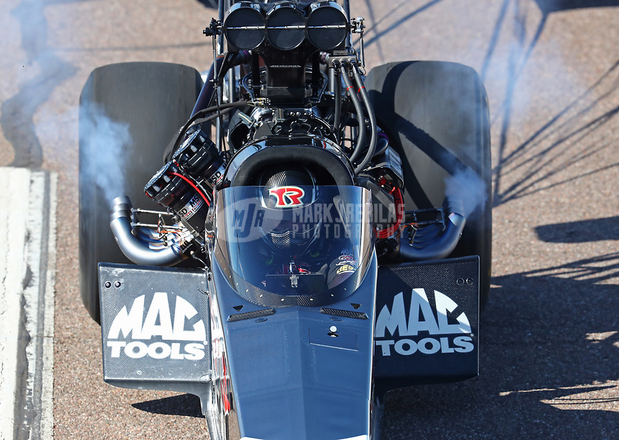 Feb 23, 2019; Chandler, AZ, USA; NHRA top fuel driver Billy Torrence during qualifying for the Arizona Nationals at Wild Horse Pass Motorsports Park. Mandatory Credit: Mark J. Rebilas-USA TODAY Sports