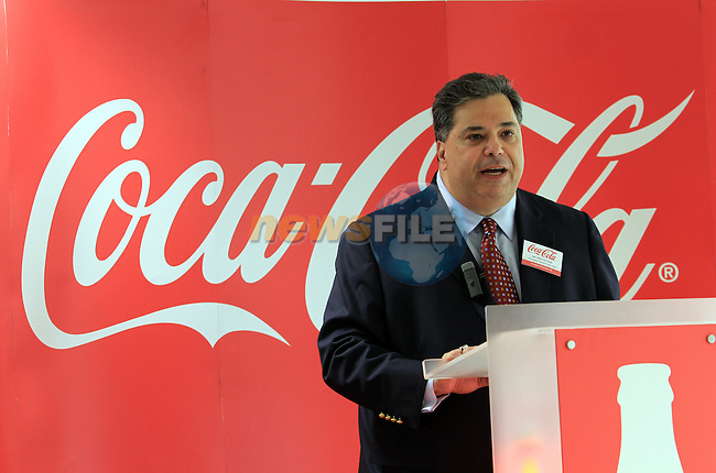 Vice President Commercial Product Supply, Fred Yochum at the Official Opening of Coca Cola Global Business Services Finance Operation for Europe and Eurasia in Southgate Shopping Centre 28/10/11..(Photo credit should read Jenny Matthews www.newsfile.ie)....This Picture has been sent you under the conditions enclosed by:.Newsfile Ltd..The Studio,.Millmount Abbey,.Drogheda,.Co Meath..Ireland..Tel: +353(0)41-9871240.Fax: +353(0)41-9871260.GSM: +353(0)86-2500958.email: pictures@newsfile.ie.www.newsfile.ie.