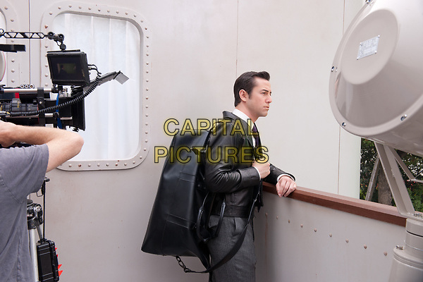 Looper (2012)<br /> Behind the scenes photo of Joseph Gordon-Levitt<br /> *Filmstill - Editorial Use Only*<br /> CAP/KFS<br /> Image supplied by Capital Pictures