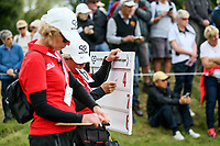 Volunteers. McKayson NZ Women's Golf Open, Round Three, Windross Farm Golf Course, Manukau, Auckland, New Zealand, Saturday 30 September 2017.  Photo: Simon Watts/www.bwmedia.co.nz