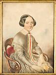 Ritratto di Carlotta Pollone, moglie di Carlo Ignazio Giulio. Dipinto conservato nella Biblioteca della Provincia di Torino.