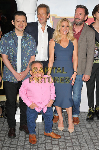 "Craig Roberts, Warwick Davis, Alexander Armstrong, Sarah Hadland and Lee Mack at the ""Horrible Histories: The Movie - Rotten Romans"" world film premiere, Odeon Luxe Leicester Square, Leicester Square, London, England, UK, on Sunday 07th July 2019.<br /> CAP/CAN<br /> ©CAN/Capital Pictures"