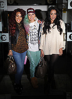 November 9th, 2012 - London..Stooshe three-piece English R&B girl group that originate from London, England. The group, consisting of Alexandra Buggs, Karis Anderson and Courtney Rumbold seen arraving at radio one studios london.<br />