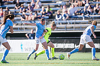 Seattle, WA - Sunday, April 17, 2016: Seattle Reign FC midfielder Kim Little (8) pushes through the Sky Blue FC defense during the second half of the match, at Memorial Stadium. Sky Blue FC defeated the Seattle Reign FC 2-1during a National Women's Soccer League (NWSL) match at Memorial Stadium.