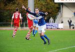 2015-10-25 / Voetbal / Seizoen 2015-2016 / FC Turnhout - KV Vosselaar / Niels Van de Vel scoorde de 2-1 en viert.<br /><br />Foto: Mpics.be