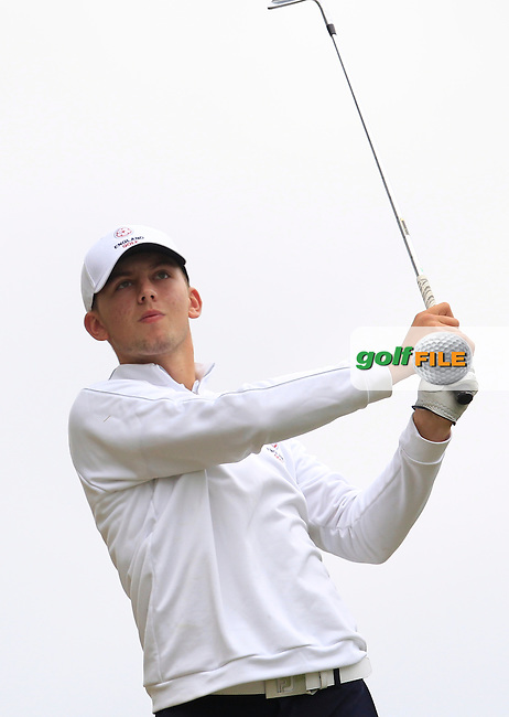 Gian-Marco Petrozzi (England) on the 7th during Round 2 of the Irish Boys Amateur Open Championship at Tuam Golf Club on Wednesday 24th June 2015.<br /> Picture:  Thos Caffrey / www.golffile.ie