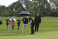 Mary Quigley (Mount Juliet) on the 15th green during the Final of the Irish Mixed Foursomes Leinster Final at Millicent Golf Club, Clane, Co. Kildare. 06/08/2017<br /> Picture: Golffile | Thos Caffrey<br /> <br /> <br /> All photo usage must carry mandatory copyright credit     (&copy; Golffile | Thos Caffrey)