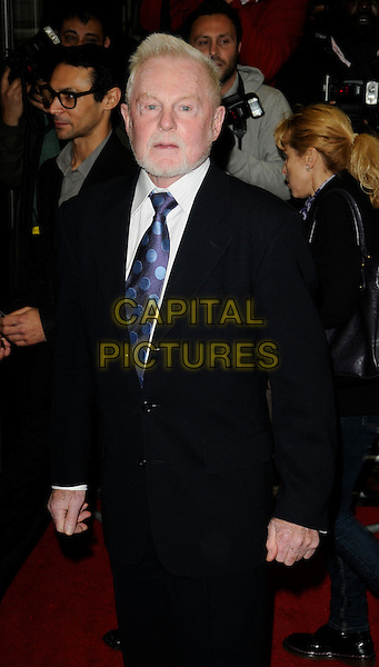 SIR DEREK JACOBI .Attending the European Premiere of 'Creation' at the Curzon Mayfair, London, England, UK, September 13th 2009.half length black suit blue tie beard facial hair polka dot .CAP/CAN.©Can Nguyen/Capital Pictures