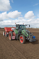 Planting potatoes with a Miedema Structural 4000 planter - Lincolnshire; April