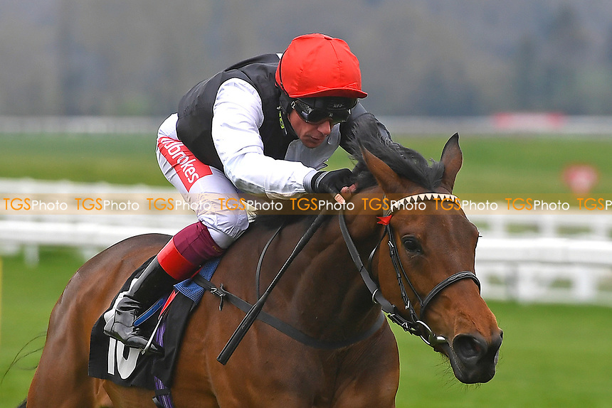 Winner of The Mansionbet Maiden Fillie's Stakes Div 1<br /> Star Catcher ridden by Frankie Dettori and trained by John Gosden  during Racing at Newbury Racecourse on 12th April 2019