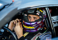 Sep 2, 2016; Clermont, IN, USA; NHRA pro stock driver Vincent Nobile during qualifying for the US Nationals at Lucas Oil Raceway. Mandatory Credit: Mark J. Rebilas-USA TODAY Sports