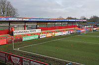 The North Terrace in use for the last time during Stevenage vs Reading, Emirates FA Cup Football at the Lamex Stadium on 6th January 2018