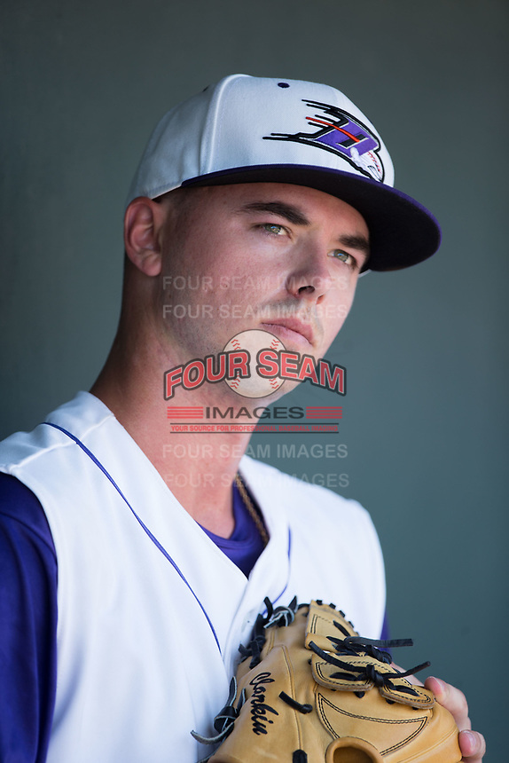 Winston-Salem Dash starting pitcher Ian Clarkin (20) prior to the game against the Salem Red Sox at BB&T Ballpark on July 23, 2017 in Winston-Salem, North Carolina.  The Dash defeated the Red Sox 11-10 in 11 innings.  (Brian Westerholt/Four Seam Images)