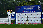 Xi Chen Wang of China tees off during the 2011 Faldo Series Asia Grand Final on the Faldo Course at Mission Hills Golf Club in Shenzhen, China. Photo by Victor Fraile / Faldo Series
