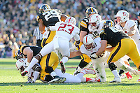 Pasadena, CA - January 1, 2016: Stanford defeats Iowa 45-16 in the 102nd Rose Bowl Game.