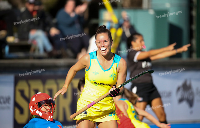 FIH Pro League 2019<br /> Hobart 09/02/2019<br /> Hockeyroos v China<br /> <br /> <br /> Photo: Grant Treeby