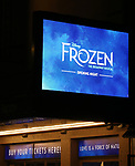 Theatre Marquee for the Broadway Musical Opening Night of 'Frozen' at the St. James Theatre on March 22, 2018 in New York City.