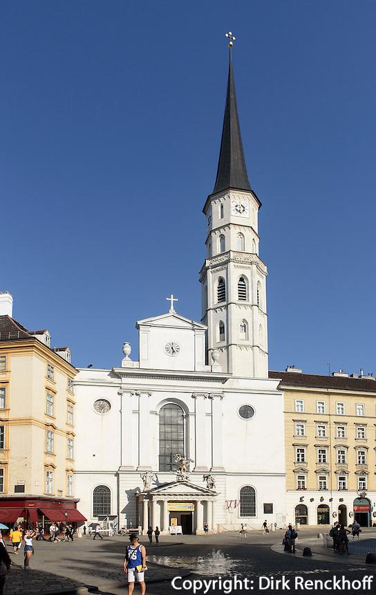 Michaeler Kirche= St. Michael am Michaeler Platz, Wien, &Ouml;sterreich, UNESCO-Weltkulturerbe<br /> St. Michael, Vienna, Austria, world heritage