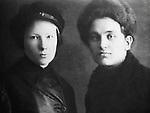 Alexander Nikolayev (1904-1934), murderer of Kirov, and his wife Milda Draule / Леонид Васильевич Николаев (1904-1934) с женой Мильдой Драуле.
