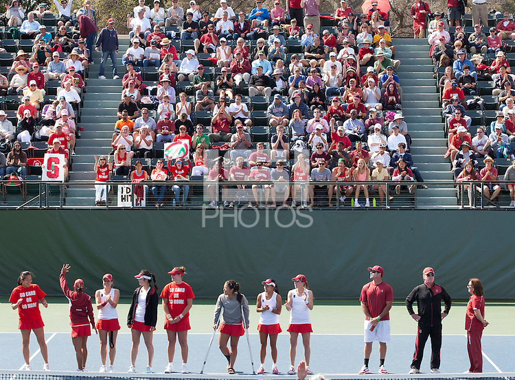 STANFORD, CA - May 24, 2011: NCAA Tennis Championships Finals, Stanford vs Florida at Taube Tennis Center. Stanford lost 4-3.