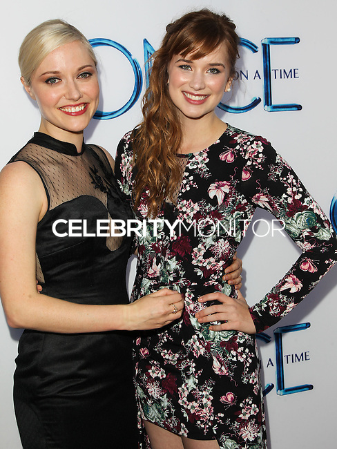 HOLLYWOOD, LOS ANGELES, CA, USA - SEPTEMBER 21: Georgina Haig, Elizabeth Lail arrive at the Los Angeles Screening Of ABC's 'Once Upon A Time' Season 4 held at the El Capitan Theatre on September 21, 2014 in Hollywood, Los Angeles, California, United States. (Photo by Celebrity Monitor)