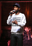 "Donald Webber Jr. from the 'Hamilton' cast during a Q & A before The Rockefeller Foundation and The Gilder Lehrman Institute of American History sponsored High School student #EduHam matinee performance of ""Hamilton"" at the Richard Rodgers Theatre on May 24, 2017 in New York City."