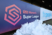 General view of signage ahead of Brighton & Hove Albion Women vs Manchester United Women, SSE Women's FA Cup Football at Broadfield Stadium on 3rd February 2019