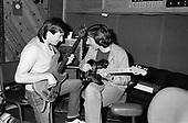 ALLAN HOLDSWORTH AND JEFF BERLIN, RECORDING STUDIO,1983, NEIL ZLOZOWER