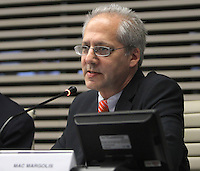 ATENCAO EDITOR: FOTO EMBARGADA PARA VEICULO INTERNACIONAL - SAO PAULO, SP, 10 DEZEMBRO 2012 - A INFLUENCIA DO BRASIL NO SISTEMA INTERNACIONAL SOFT-POWER -  O correspondente da Newsweek Magazine International e colunista do Estado de Sao Paulo Mac Margolis participou do debate sobre o soft power. A iniciativa, idealizada em conjunto com a Secretaria de Assuntos Estrategicos (SAE) da Presidencia da Republica, tem como objetivo a atuacao do Brasil no cenario internacional, com vistas a identificar a capacidade de o pais influenciar acoes politicas sem o uso da forca ou outra forma de coercao, porem lançando mao de estrategias de cooperacao - conceito conhecido como soft-power, na FIESP nessa terca, 11. (FOTO: LEVY RIBEIRO / BRAZIL PHOTO PRESS)..
