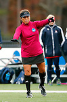 EASTON, MA - NOVEMBER 20:  A referee makes a call during the NCAA Division II Field Hockey Championship at WB Mason Stadium on November 20, 2016 in Easton, Massachusetts.  Shippensburg University defeated LIU Post 2-1 for the national title. (Photo by Winslow Townson/NCAA Photos via Getty Images)