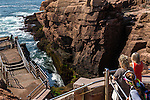 Thunder Hole in Acadia National Park, Maine, USA