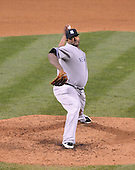 Baltimore, MD - May 8, 2009 -- New York Yankees pitcher C.C. Sabathia (52) pitches in the bottom of the sixth inning against the Baltimore Orioles at Oriole Park at Camden Yards in Baltimore, MD on Friday, May 8, 2009.  Sabathia pitched a complete game en route to a 4 - 0 victory..Credit: Ron Sachs / CNP.(RESTRICTION: NO New York or New Jersey Newspapers or newspapers within a 75 mile radius of New York City)