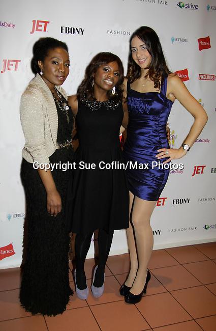 Maureen Tokeson-Martin & Delaina Dixon - Color of Beauty Awards on February 4, 2014 at Holy Apostles, New York City, New York. (Photo by Sue Coflin/Max Photos)