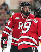 Chris Bradley (RPI - 24) - The Harvard University Crimson defeated the visiting Rensselaer Polytechnic Institute Engineers 5-2 in game 1 of their ECAC quarterfinal series on Friday, March 11, 2016, at Bright-Landry Hockey Center in Boston, Massachusetts.