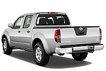 Rear three quarter view of a 2009 Nissan Frontier Crew Cab SE